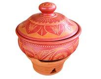 clay artystyczny garnek curry Obrazy Stock