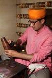 Clay Bangle maker, India Royalty Free Stock Photography