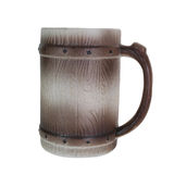 Clay beer mug isolated on white Stock Image