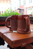 Clay beer mugs Royalty Free Stock Images