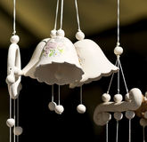 Clay bells. Folk art and craft Royalty Free Stock Image