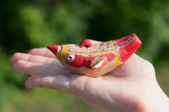 Clay bird Stock Images
