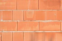 Clay block wall Stock Photo