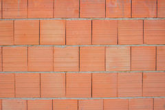 Clay Blocks Wall Background Stock Photography