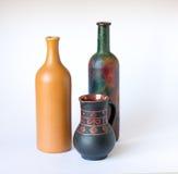 Clay bottle Stock Photo