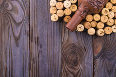 Clay bottle of wine and cork Royalty Free Stock Image
