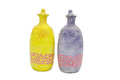 Clay bottles Royalty Free Stock Photography