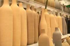 Clay bottles Stock Images