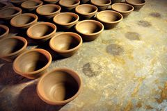 Clay Bowl Pattern Fotografie Stock Libere da Diritti