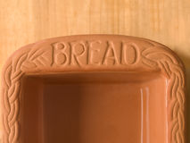 Clay bread baking pan Stock Image