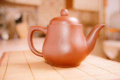 Clay brewing teapot Royalty Free Stock Photos