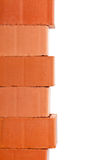Clay brick border Stock Images