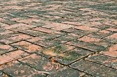 Clay brick floor Stock Photo