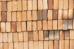 Clay brick pile Stock Photos