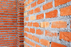 Clay brick wall Stock Photo