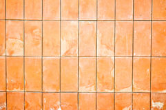 Clay brick wall pattern background Royalty Free Stock Images