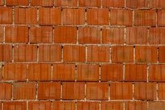 Clay Brick Wall rosso Immagine Stock