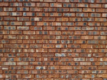 Clay Brick Wall rouge Images stock