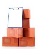 Clay bricks. Isolated on white Royalty Free Stock Photo