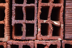Clay Bricks Stock Foto