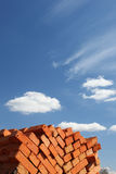Clay bricks stacked Royalty Free Stock Photo