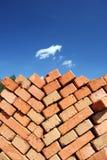 Clay bricks stacked. Stock Photos