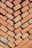 Clay bricks stacked herringbone Stock Photo