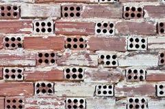 Clay bricks wall Stock Photo