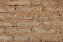 Clay bricks wall Stock Images