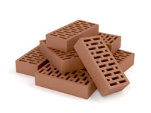 Clay bricks Stock Images