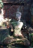 Clay Buddha Statue Chiang Mai Thailand Stockbilder