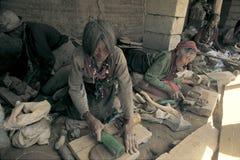 Clay buddha in Tibet Stock Photos