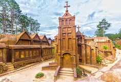 Clay building of church amazing Royalty Free Stock Image
