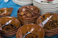 Clay casseroles made by hand