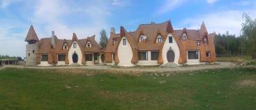 Clay Castle av dalen av feer Arkivfoton