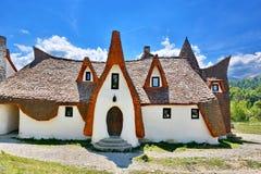 Clay Castle av dalen av feer, Rumänien Fotografering för Bildbyråer