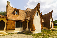 Clay Castle, Fairy Valley, Romania - 27 july 2016 - The pension stock photo