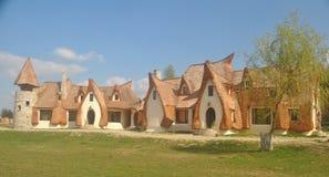 Clay Castle The Valley dei fatati Castelul de Lut Valea Zanelor, il 15 aprile 2017 Immagini Stock