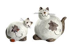 Clay cats Stock Image