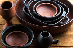 Clay ceramic pottery, earthenware background Royalty Free Stock Photos