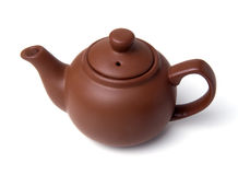 Clay (ceramic) teapot Royalty Free Stock Photography