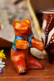Clay ceramic toy bear still life beautiful cute kids Royalty Free Stock Image
