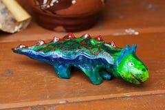 Clay ceramic toy dinosaur still life beautiful cute kids Stock Photos