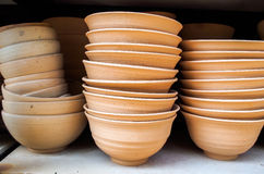 Clay Ceramics bowl. Wiht day light, close up Royalty Free Stock Images