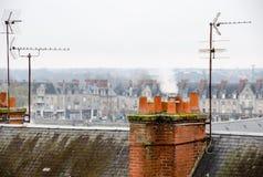 Clay chimneys Royalty Free Stock Image