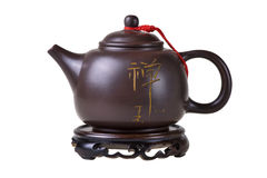 Clay chinese teapot. royalty free stock images