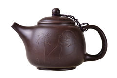 Clay chinese teapot. Stock Images