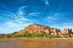 The clay city in the north of Africa Royalty Free Stock Photo