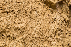 Clay cliff texture. In Thailand Stock Image