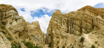 Clay Cliffs near Omarama Royalty Free Stock Image